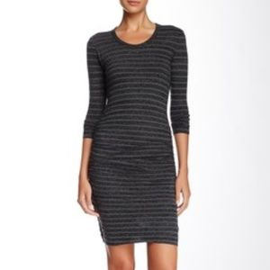 Standard JAMES PERSE Fitted Ruched Dress Striped 2
